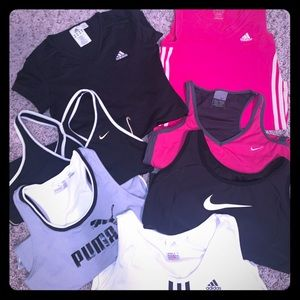 Name brand workout top